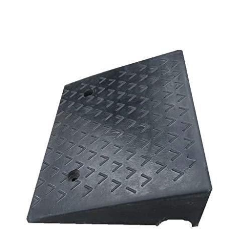 Heavy rubber Stable Oprijplaten, Ruit Skateboard Oprijplaten Truck veiligheid hellingen/Afmetingen: 50 * 38 * 15 cm/Kleur: Zwart/Gewicht: 12 kg (Color : Black, Size : 50 * 38 * 15cm)