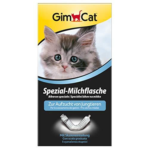 GimCat Spezial-Milchflasche - Aufzuchthilfe mit Skaleneinteilung zur Fütterung von Kitten und anderen Tierbabys - 1 Flasche