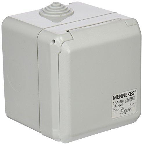 Mennekes (Unternehmen) 101100350Basen in System cepex-th, Steckdosen CEE, 400V, 50–60Hz, 16A, 5-polig, IP 44, 5Paket