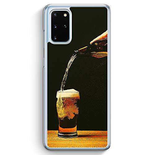 Bierglas Bier - Hülle für Samsung Galaxy S20+ Plus - Motiv Design Jungs Herren Männer - Cover Hardcase Handyhülle Schutzhülle Hülle Schale