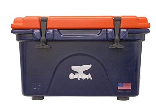 ORCA 26 Quart Cooler, Navy/Orange