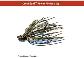 Z-Man CrossEyeZ Power Finesse Jig 3/8 oz Bruised Green Pumpkin CEPF38-08 ZMan