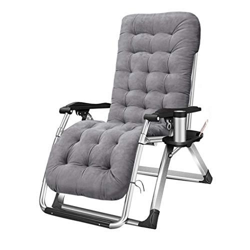 GUOOK Sedie da Giardino reclinabili Lettini Prendisole in Metallo Resistenti per Il Relax degli AdultiSedie a Sdraio a gravità Zero per Campeggio all'aperto, Grigio