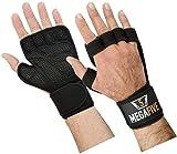 MEGAFIVE - Gants Crossfit manique de Musculation, idéal pour la Gymnastique, Fitness, Barre de Traction, protège Le Poignet pour Homme et Femme (S)
