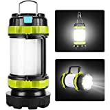 Camping Lantern Rechargeable, YOTUTUN Camping Light for Tents, LED Lantern Camping 6 Light Modes, 4000mAh High Capacity Power Bank, Flashlight for Camping Outdoor Hurricane Emergency(1 Pack)