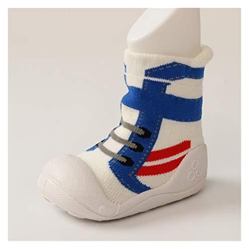 JINSUO Babyschuhe für Jungen und Mädchen, Gummi-Sneaker, Baumwolle, weiche rutschfeste Sohle, für Neugeborene, Kleinkinder, für den Außenbereich, Kinderbett (Alter: 12 bis 18 Monate, Farbe: 9)