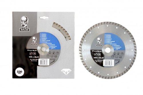 Atlas Lame diamant – Universal Turbo 230 x 7 x 2.6 x 22,23 mm