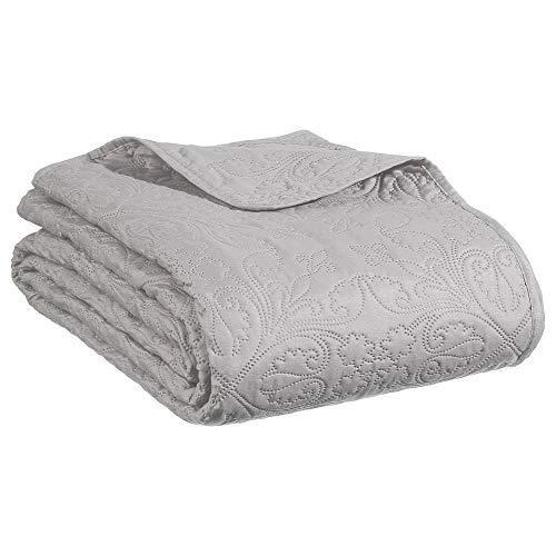 Ensemble Dessus de lit matelassé avec ses 2 Housses de coussin - Doux et chaleureux - Grande taille - Coloris TAUPE