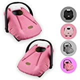 Cozy Cover Infant Car Seat Cover (Pink) - Industry's Leading Infant Carrier Cover Trusted by Over...