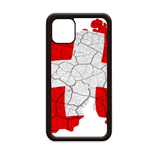Kaart Zwitserland Abstract Vlag Patroon voor Apple iPhone 11 Pro Max Cover Apple mobiele telefoonhoesje Shell, for iPhone11 Pro