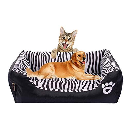 miaosss Gedrukt Oxford PP Rechthoekige pluche hond kat bed zelf verwarmend huisdierbed, waterdicht, duurzaam, machinewasbaar
