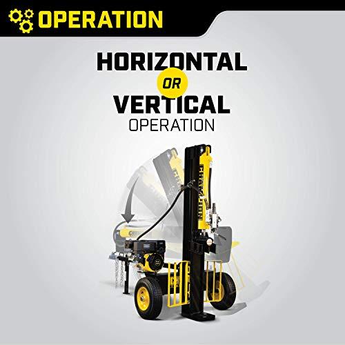 Champion 25-Ton Horizontal/Vertical Full Beam Gas Log Splitter, Auto Return