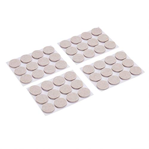 Amazon Basics - Feltrini rotondi per mobili, avorio, 2.54 cm, 48 pezzi