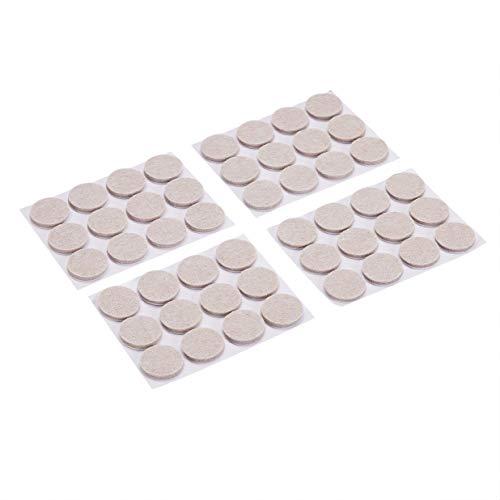 Amazon Basics Round Felt Furniture Pads, Linen, 1'', 48 pcs