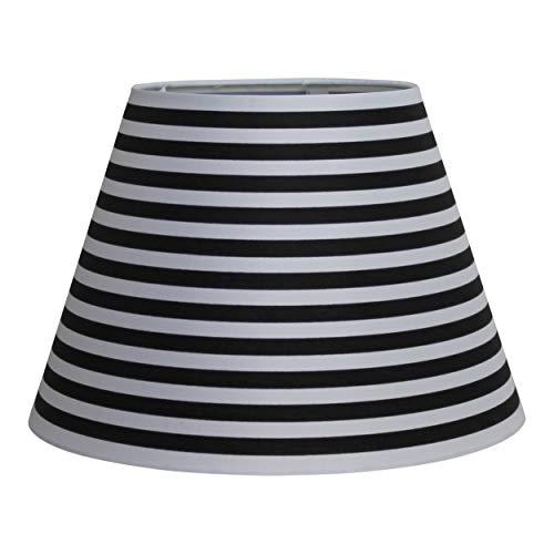 Paralume, diversi motivi in nero bianco, 17 x 30 x 20 cm (strisce).