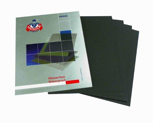 Starcke Matador, Schleifpapier, für Trocken- und Nassgebrauch, Körnung 3000 / 5000 / 7000, je 2 Bögen, 230x 280mm, 6-teiliges Set