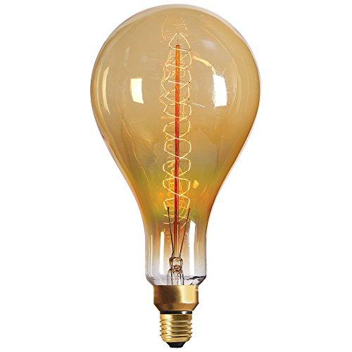 Girard Sudron - Bombilla gigante ámbar (filamento SPIRAL, 40 W, E27)