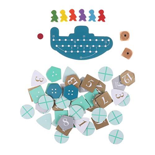 Preisvergleich Produktbild FADACAI 1 Set Deep Sea Adventure Brettspiel mit englischen Anweisungen Kartenspiel 2-6 Spieler