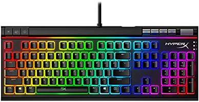 لوحة المفاتيح الميكانيكية إلوي إليت 2 للألعاب ماركة هايبر إكس، لون أحمر، بتصميم إنجليزي (أمريكي)