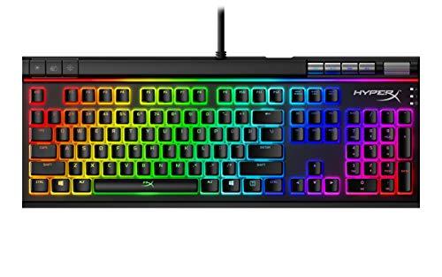 HyperX Alloy Elite 2 – Tastiera meccanica per il gaming, Personalizzazione di macro e illuminazione controllata via software, Copritasti Pudding in ABS, Controlli multimediali, Cherry Red Switch