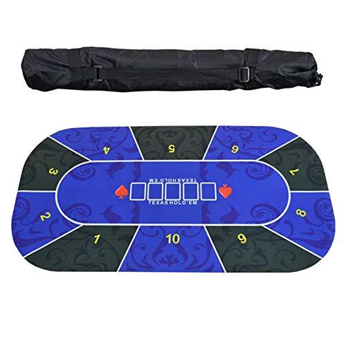 Mesa de Póquer Portátil 180X90 / 120X60 Paño de Mesa de Póquer de Goma Texas Hold'em Mantel 10 Jugadores Alfombra de Póquer,A