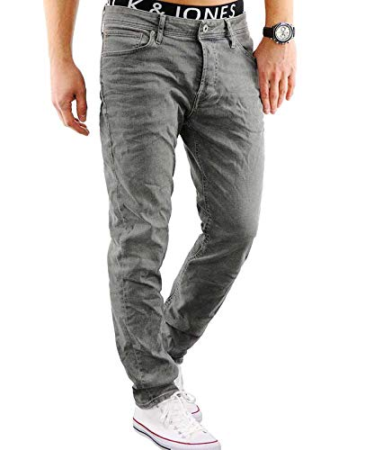 Jack & Jones Herren Straight Fit Jeans grau 31 / 32