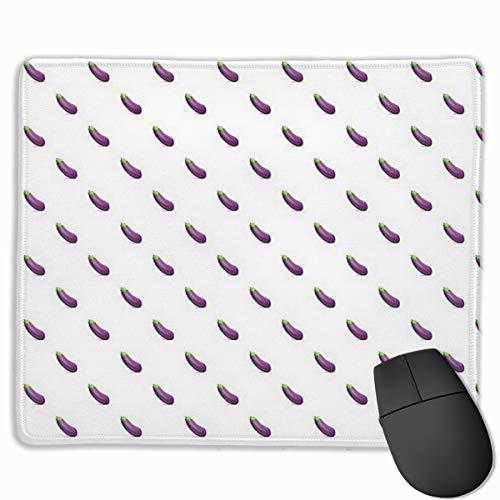 Alfombrilla de ratón de 25 x 30 cm para el hogar, oficina, diseño de berenjenas y emoticonos gruesos de goma antideslizante, apto para teclado de computadora portátil