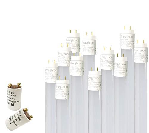 2x 150cm LED Röhre G13 T8 Leuchtstofföhre Tube / 24W Kaltweiß (6500K) 2430 Lumen 270° Abstrahlwinkel/inkl. Starter 2er Pack/milchweiße Abdeckung