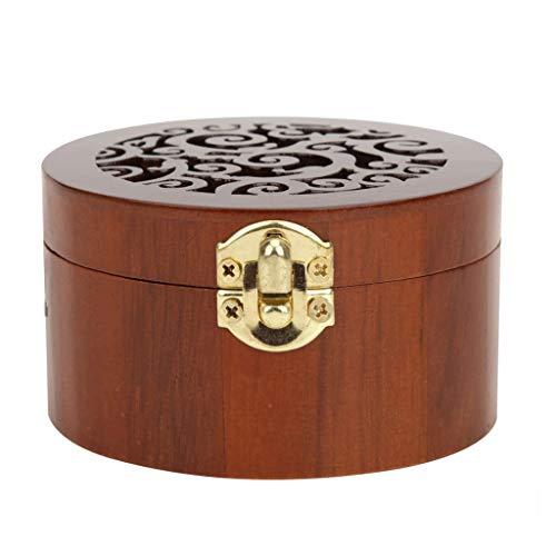 JYDQM Caja de música de Madera Caja de música Redonda de Estilo Retro Joyero Musical Lago de los cisnes y Castillo del Cielo