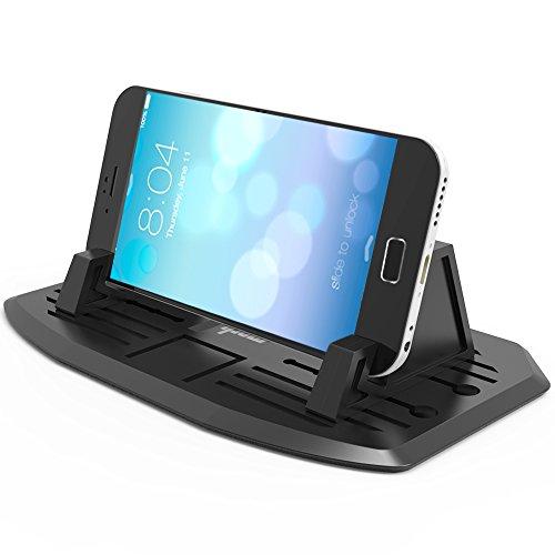 IPOW Universal Silikon Handyhalterung Antirutschmatte Auto & Haus Doppelzweck Handy Halterung Ständer kompatibel mit Smartphone wie iPhone X 8 7 Plus 6s 6 5 4 Samsung S9 S8 S7 und mehr
