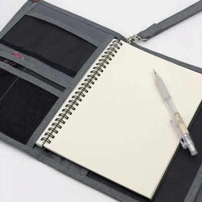 ロジック ノートカバー [大容量収納 旅行・仕事に便利] トラベル用 ガイドブック スケジュール