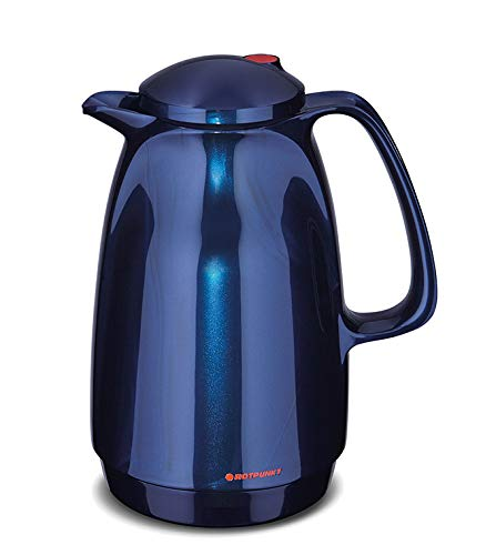 ROTPUNKT Isolierkanne 220 BELLA, 1,0 liter, midnight blue, Glaseinsatz,...