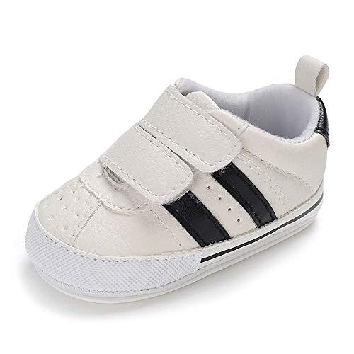 MK Matt Keely Anti-Rutsch Prewalkers Schuhe Baby Junge Lauflernschuhe weiß Baby Mädchen Krabbelschuhe Baby Sneaker Weiche Babyschuhe 3-6 Monate