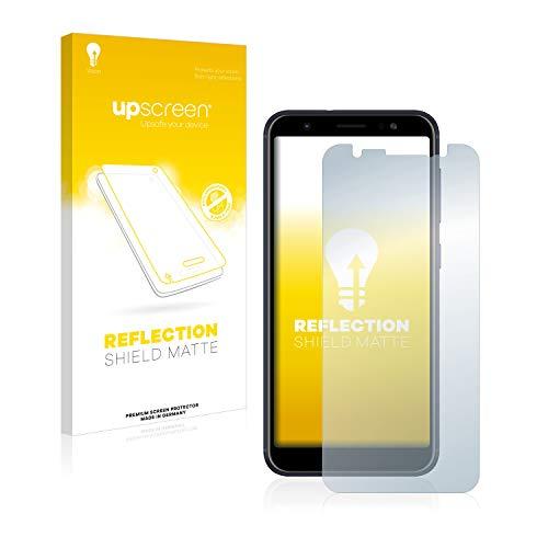 upscreen Entspiegelungs-Schutzfolie kompatibel mit Asus ZenFone Max (M1) – Anti-Reflex Bildschirmschutz-Folie Matt