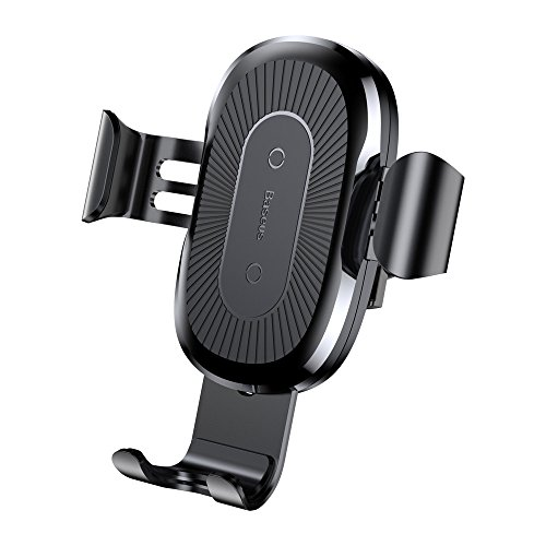10W Qi cargador inalámbrico rápido soporte de coche Stand para iPhone X para Samsung Note8, negro