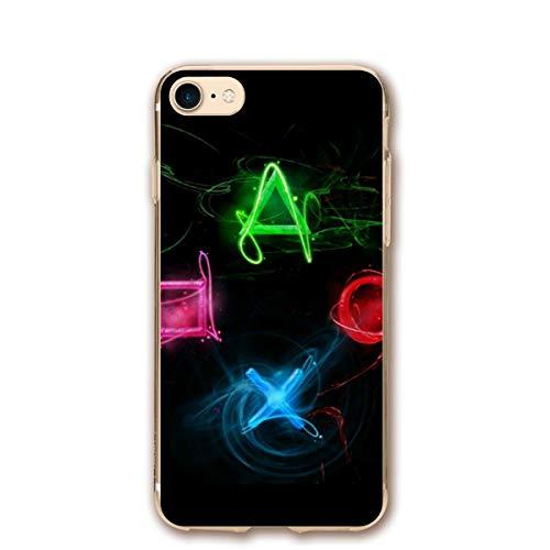 EU Abstract Playstation Buttons Funda para iPhone 8, Funda para iPhone 7 Protección de Cuerpo Completo Funda a Prueba de Golpes Funda Protectora contra caídas