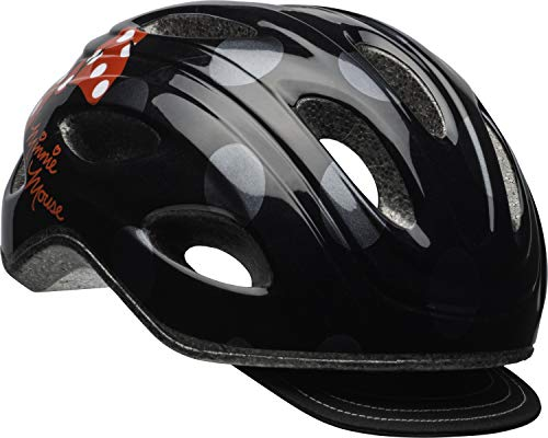 Bell Minnie Mouse Women's Bike Helmet Black Polka...