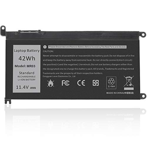 ARyee WDX0R Replacement Laptop Battery for Dell Inspiron 15 5565 5567 5568 5578 7560 7570 7579 7569 13 5368 5378 7368 7378 17 5765 5767 5770 Series fits 3CRH3 T2JX4 FC92N CYMGM Laptop
