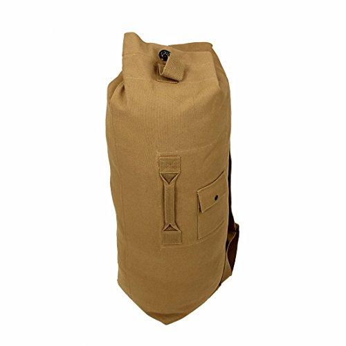 10T STC Duffle Bag 60L XL Seesack 90x26x26cm Rucksack Sporttasche Canvas Reisetasche 100% Baumwolle