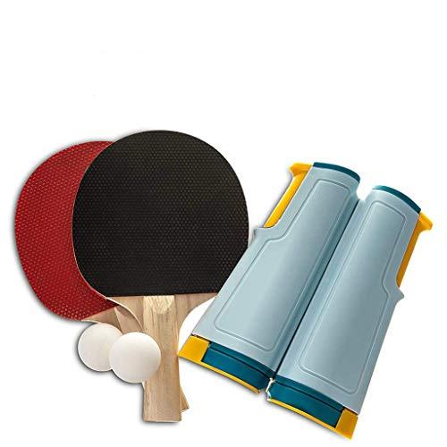 Mimitool El Conjunto Completo de Accesorios portátiles de Ping Pong Incluye una Mesa retráctil de una Pieza, Red de Tenis y publicaciones 2 Bolas de Ping Pong 2 paletas para Exteriores al Aire Libre ⭐