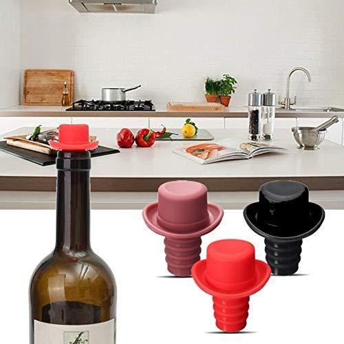 TIGOWL Sombrero De Silicona Sin Aire Botella Parada Coche Vino Exportación Botella De Vino Tapón De Botella Sellador Al Vacío Barra Herramienta Accesorios De Vino 3 Piezas