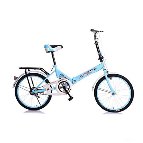 KERULA Hengyoute Damenfahrrad 20 Zoll Singlespeed Bremsscheibe Bremsen Fahrrad Damen Bikes Damenrad mit Kindersitz für Erwachsene, MäNner Und Frauen (D)