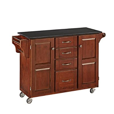 Home Styles Create-a-Cart Black Granite Top Kitchen Cart (A) by Home Styles