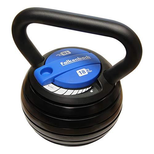 Falkenbach® verstellbare 18kg Kettlebell   Über 20 Gewichtsvariationen   6X Gewichte 3,6-18 kg