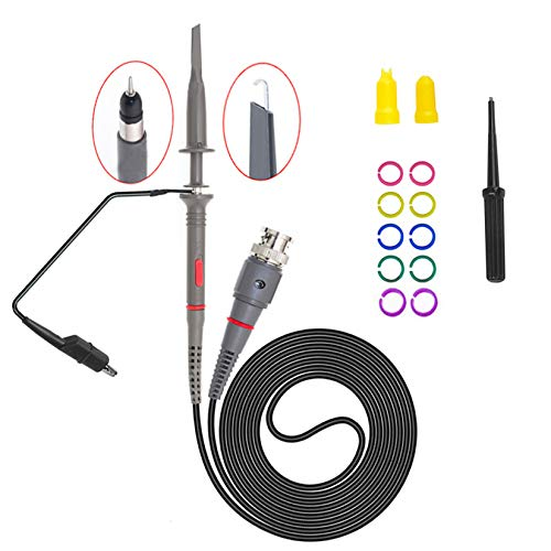 Homeet 100MHz Sonda osciloscopio Alta Precisión 1X & 10X Kit de Osciloscopio Sonda de Prueba de Clip Cable de Prueba