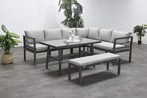 Garden Impressions Hohe Dining Aluminium Lounge Blakes Barista rechts, inklusive XL Bank und wasserabweisender Kissen