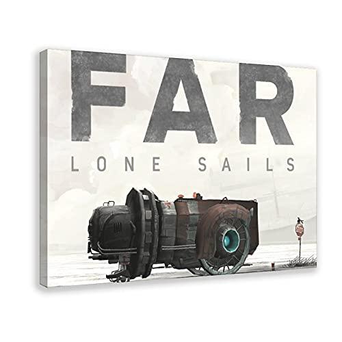 Classic Popolare Game Cover FAR Lone Sails 1 Poster Tela Camera da Letto Sport Paesaggio Camera Decor Cornice Regalo 40 x 60 cm