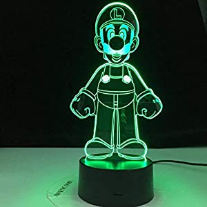3D LED Night Light Night Light Colors Changing Lamp Room Decoration Action Figure Toy for Christmas Gift,Holiday Gifts for Boys and Girls HYKK