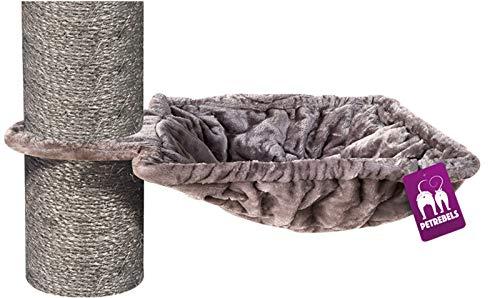 Petrebels Liegemulde XL für Kratzbaum Ø 45 cm, Quadratisch/Viereckig, Tragegewicht 25 kg, für Ø 12, Ø 15 und Ø 20 cm Stämme, Farbe Cappuccino