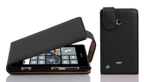 Cadorabo Funda para Nokia Lumia 720 in Negro ÓXIDO - Cubierta Proteccíon...